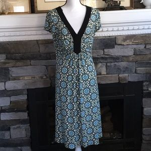 Dress barn ruched front dress